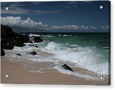 i miha kai i ka aina Hookipa Beach Maui North Shore Hawaii Acrylic Print by Sharon Mau
