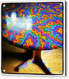 I Painted This Table With #sharpie Oil Acrylic Print