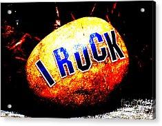 I Rock Inspirational Juvenile Licensing Acrylic Print