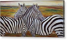 Acrylic Print featuring the painting I Think Its This Way by Julie Brugh Riffey