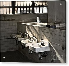 I Wash My Hands Acrylic Print by Gwyn Newcombe