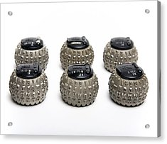 Ibm Selectric Typeballs, 1970s Acrylic Print by Victor De Schwanberg