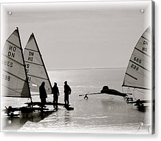 Ice Boats Acrylic Print by Susan Elise Shiebler