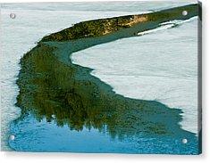 Ice Borders Acrylic Print by Colleen Coccia
