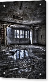 Ice Chair Acrylic Print by Nathan Wright