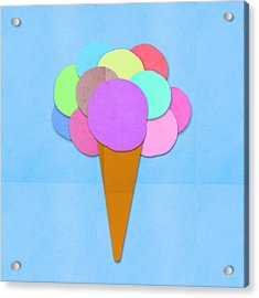 Ice Cream On Hand Made Paper Acrylic Print