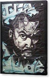 Ice Cube Acrylic Print by Abby Williams