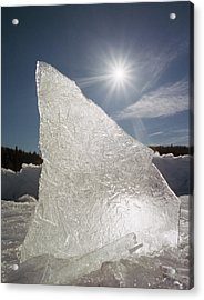 Ice Formation Along The Bow River Acrylic Print by Darwin Wiggett
