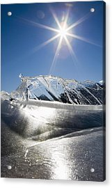 Ice Formations On A Frozen Lake Acrylic Print by Michael Interisano