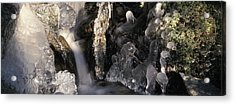Ice Is Enrusting A Waterfall Acrylic Print by Ulrich Kunst And Bettina Scheidulin