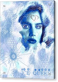 Ice Queen Acrylic Print by Methune Hively
