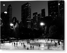 Ice Skating In Central Park Acrylic Print