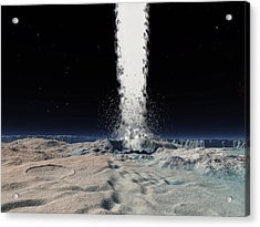 Ice Volcano On Triton, Artwork Acrylic Print by Walter Myers