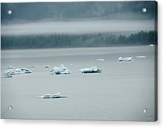 Icebergs Floating In The Sea Acrylic Print by James Forte