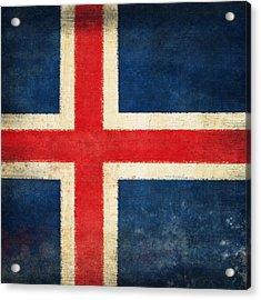 Iceland Flag Acrylic Print by Setsiri Silapasuwanchai