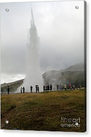 Acrylic Print featuring the photograph Iceland Geyser by Louise Peardon