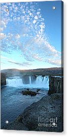 Iceland Godafoss Waterfall - 07 Acrylic Print by Gregory Dyer
