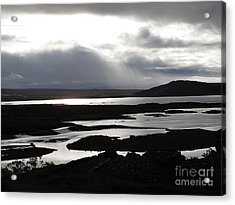 Acrylic Print featuring the photograph Iceland Landscape by Louise Peardon