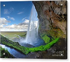 Iceland Waterfall Seljalandsfoss 02 Acrylic Print