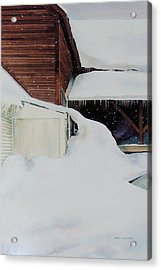 Acrylic Print featuring the painting Icicles by Karol Wyckoff