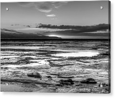 Icy Bay At Sunset Acrylic Print by Michele Cornelius