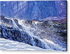 Acrylic Print featuring the photograph Icy Cascade by Albert Seger