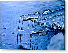 Acrylic Print featuring the photograph Icy Reflections by Mitch Shindelbower