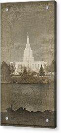 Idaho Falls Temple Verticle Acrylic Print