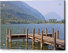 idyllic tarn in Italy Acrylic Print by Joana Kruse