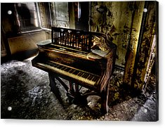 If Music Be The Food Of Love.... Acrylic Print by Steven Coppenbarger