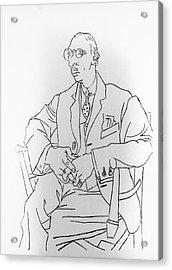 Igor Stravinsky, Russian Composer Acrylic Print by Omikron