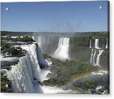 Acrylic Print featuring the photograph Iguazu Falls by David Gleeson