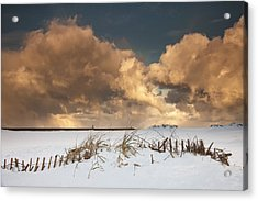 Illuminated Clouds Glowing Above A Acrylic Print by John Short