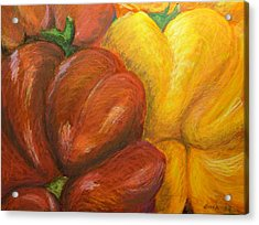 Illustrated Peppers Acrylic Print