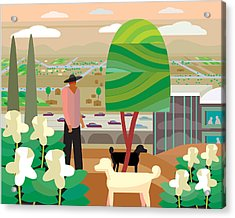 Illustration And Painting In Scottsdale Acrylic Print by Charles Harker