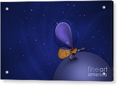 Illustration Of A Martian Playing Acrylic Print by Vlad Gerasimov
