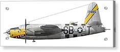 Illustration Of A Martin-b-26 Marauder Acrylic Print by Chris Sandham-Bailey