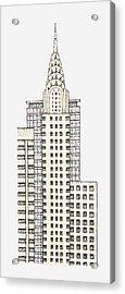 Illustration Of Chrysler Building, New York City Acrylic Print by Dorling Kindersley