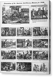 Illustrations Of The Antislavery Acrylic Print by Everett