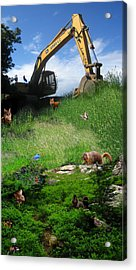 I'm A Steamroller Baby Gonna Roll Right Over You Acrylic Print by Ric Soulen