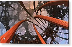 I'm More Loopy Than I Thought Acrylic Print by Ricky Jarnagin