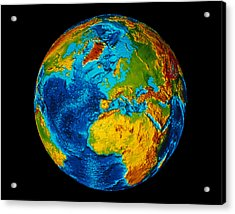 Image Of Earth Generated By Computer Graphics Acrylic Print by Stocktrek
