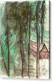 Imaginary Cabin Acrylic Print by Windy Mountain