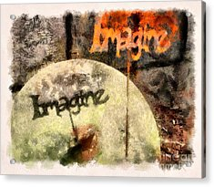 Imagine Acrylic Print by Clare VanderVeen