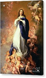 Immaculate Conception Of The Escorial Acrylic Print by Esteban Murillo