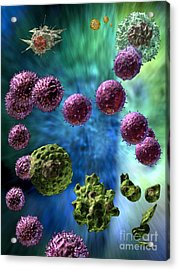 Acrylic Print featuring the digital art Immune Response Cytotoxic 3 by Russell Kightley