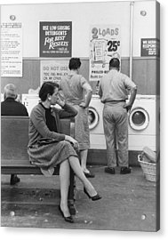 Impatient Washers Acrylic Print by Winfield J. Parks Jr.