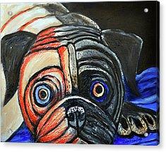 Impressionestic Pug Acrylic Print by Bob Crawford