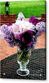 Acrylic Print featuring the photograph Impressionist Floral Bouquet by Karen Lee Ensley