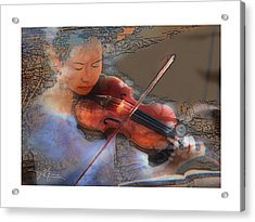 Improvisation Acrylic Print by Bob Salo
